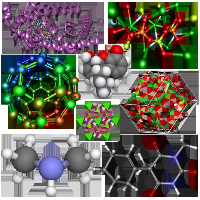 молекулы, модели молекул, визуализация молекул